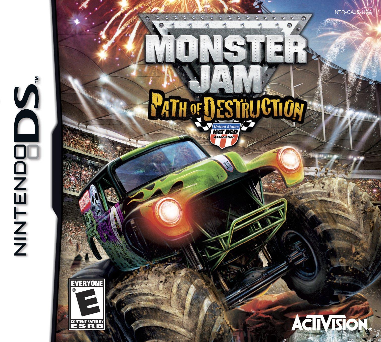monster jam 3 path of destruction release date ds xbox. Black Bedroom Furniture Sets. Home Design Ideas