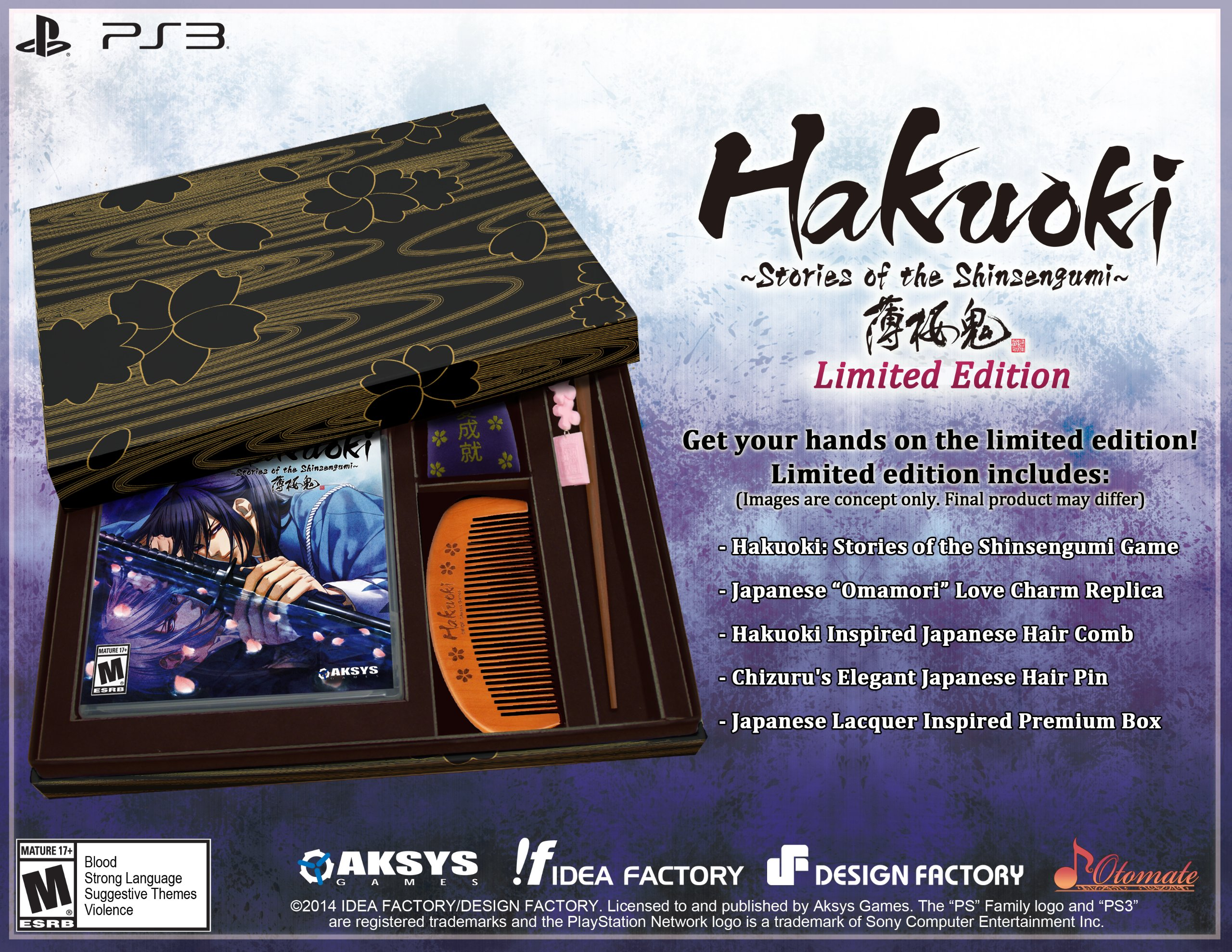 Hakuoki: Stories of the Shinsengumi Limited Edition Release Date (PS3)