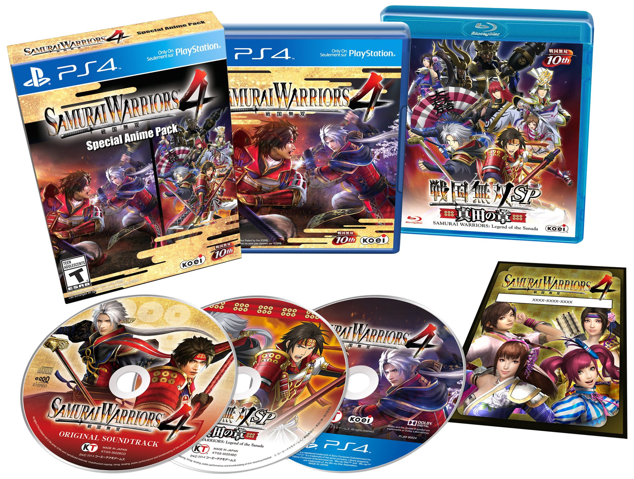 SAMURAI WARRIORS 4: Special Anime Pack Release Date (PS4)