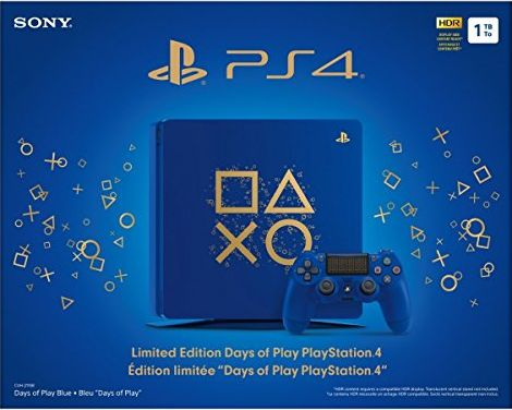 Sony PlayStation 4 1TB Limited Edition Days of Play Console Bundle