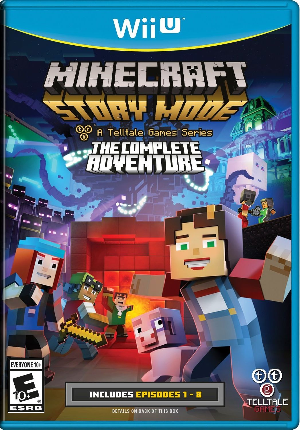 minecraft story mode release date switch wii u pc. Black Bedroom Furniture Sets. Home Design Ideas