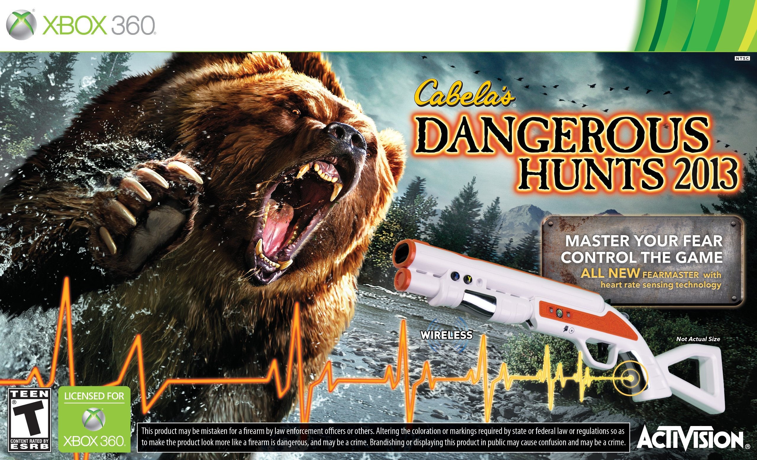 Xbox 360 Games 2013 : Cabela s dangerous hunts with gun release date xbox