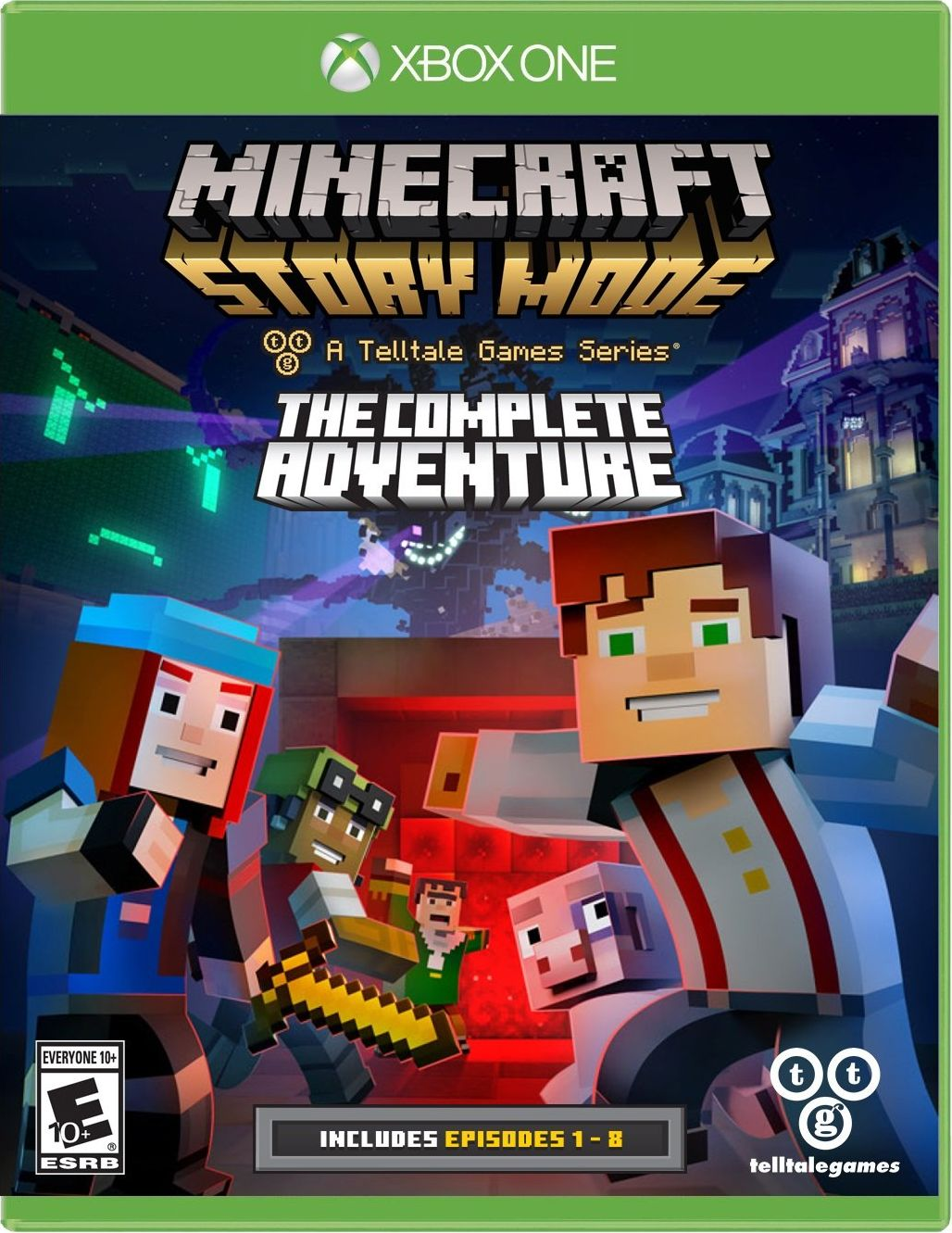 Xbox One Release Games : Minecraft story mode season disc release date xbox